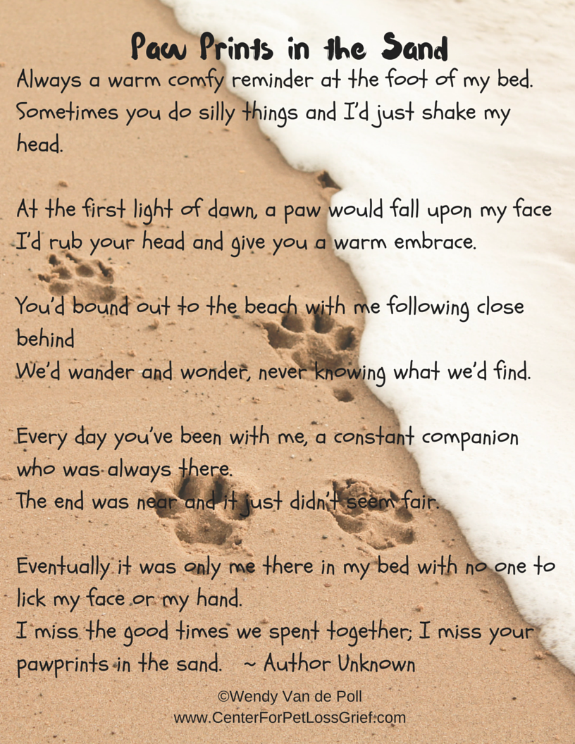 Pet Loss Poems to Support You! | Center for Pet Loss Grief