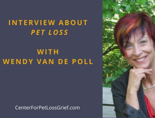 Interview with Wendy Van de Poll about Pet Loss